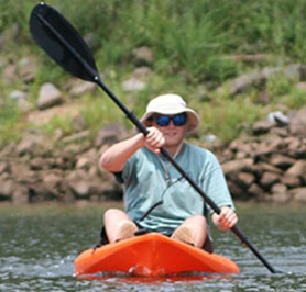 Single Kayak Rentals with Rockin' River Adventures on the Catawba River